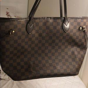 "Louis Vuitton ""neverfull Damier Ebene"" size mm."